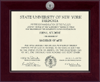 State University of New York at Fredonia Diploma Frame - Century Silver Engraved Diploma Frame in Cordova
