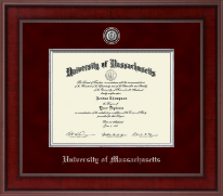 University of Massachusetts Amherst Diploma Frame - Presidential Pewter Masterpiece Diploma Frame in Jefferson