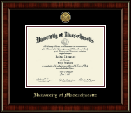 University of Massachusetts Amherst Diploma Frame - Gold Engraved Medallion Diploma Frame in Ridgewood
