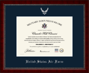"""Horizontal 10""""x14"""" - Silver Embossed Certificate Frame"""