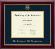 The College of St. Scholastica Diploma Frame - Gold Embossed Diploma Frame in Gallery