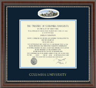 Columbia University Diploma Frame - Campus Cameo Diploma Frame in Chateau