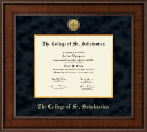 The College of St. Scholastica Diploma Frame - Presidential Gold Engraved Diploma Frame in Madison