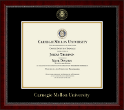 Carnegie Mellon University Diploma Frame - Gold Embossed Diploma Frame in Sutton