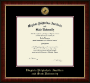 Virginia Tech Diploma Frame - Gold Engraved Medallion Diploma Frame in Murano
