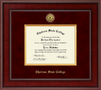 Chadron State College Diploma Frame - Presidential Gold Engraved Diploma Frame in Jefferson