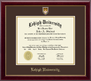 Lehigh University Diploma Frame - Masterpiece Medallion Diploma Frame in Gallery