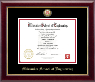 Milwaukee School of Engineering Diploma Frame - Nursing Seal Masterpiece Medallion Diploma Frame in Gallery