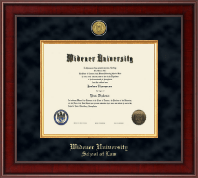 Widener University School of Law Diploma Frame - Presidential Gold Engraved Diploma Frame in Jefferson