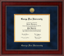George Fox University Diploma Frame - Presidential Gold Engraved Diploma Frame in Jefferson
