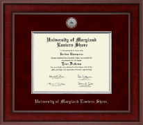 University of Maryland Eastern Shore Diploma Frame - Presidential Silver Engraved Diploma Frame in Jefferson