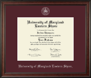 University of Maryland Eastern Shore Diploma Frame - Silver Embossed Diploma Frame in Studio