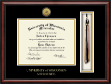University of Wisconsin-Milwaukee Diploma Frame - Tassel Gold Engraved Medallion Edition Diploma Frame in Southport