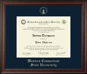 Western Connecticut State University Diploma Frame - Gold Embossed Diploma Frame in Studio