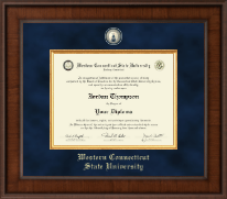 Western Connecticut State University Diploma Frame - Presidential Masterpiece Diploma Frame in Madison
