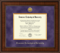 Tennessee Technological University Diploma Frame - Presidential Gold Engraved Diploma Frame in Madison