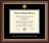 Tennessee Technological University Diploma Frame - Gold Engraved Medallion Diploma Frame in Hampshire