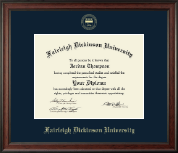 Fairleigh Dickinson University Diploma Frame - Gold Embossed Diploma Frame in Studio