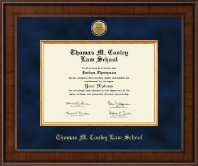 Thomas M. Cooley Law School Diploma Frame - Presidential Gold Engraved Diploma Frame in Madison