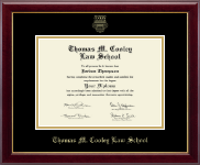 Thomas M. Cooley Law School Diploma Frame - Gold Embossed Diploma Frame in Gallery
