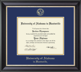 The University Of Alabama Huntsville Diploma Frames