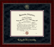 Colgate University Diploma Frame - Gold Embossed Diploma Frame in Sutton