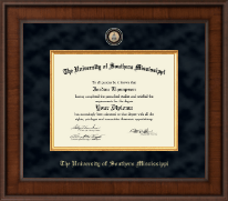 The University of Southern Mississippi Diploma Frame - Presidential Masterpiece Diploma Frame in Madison