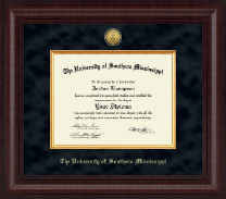 The University of Southern Mississippi Diploma Frame - Presidential Gold Engraved Diploma Frame in Premier