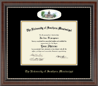 The University of Southern Mississippi Diploma Frame - Campus Cameo Diploma Frame in Chateau