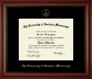The University of Southern Mississippi Diploma Frame - Gold Embossed Diploma Frame in Cambridge