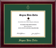 Sigma Beta Delta Honor Society Certificate Frame - Gold Embossed Certificate Frame in Gallery