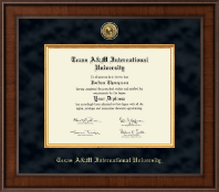 Texas A&M International University in Laredo Diploma Frame - Presidential Gold Engraved Diploma Frame in Madison