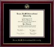 Texas A&M International University in Laredo Diploma Frame - Gold Embossed Diploma Frame in Gallery