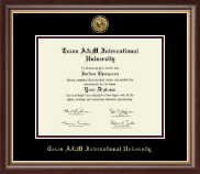 Texas A&M International University in Laredo Diploma Frame - Gold Engraved Medallion Diploma Frame in Hampshire