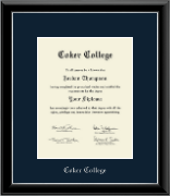 Coker College Diploma Frame - Silver Embossed Diploma Frame in Onyx Silver