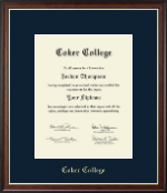 Coker College Diploma Frame - Gold Embossed Diploma Frame in Studio Gold