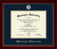 Quinnipiac University Diploma Frame - Masterpiece Medallion Diploma Frame in Sutton