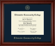 Tidewater Community College Diploma Frame - Gold Embossed Diploma Frame in Cambridge