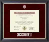 University of Chicago Booth School of Business Diploma Frame - Regal Edition Diploma Frame in Noir