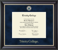 Trinity College Diploma Frame - Regal Edition Diploma Frame in Noir