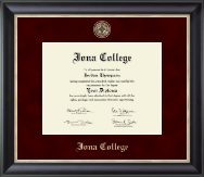 Iona College Diploma Frame - Regal Edition Diploma Frame in Noir