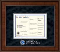 American Kennel Club Certificate Frame - Presidential Masterpiece Pedigree Frame in Madison