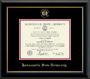 Jacksonville State University Diploma Frame - Pre-Dec 2015- Gold Embossed Diploma Frame in Onyx Gold