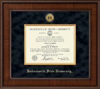 Jacksonville State University Diploma Frame - Pre-Dec 2015- Presidential Gold Engraved Diploma Frame in Madison