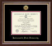 Jacksonville State University Diploma Frame - Pre-Dec 2015- Gold Engraved Medallion Diploma Frame in Hampshire