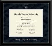 Georgia Regents University Diploma Frame - Silver Embossed Diploma Frame in Onyx Silver