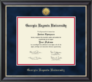 Georgia Regents University Diploma Frame - Gold Engraved Medallion Diploma Frame in Noir