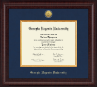 Georgia Regents University Diploma Frame - Presidential Gold Engraved Diploma Frame in Premier