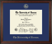 The University of Kansas Diploma Frame - Gold Embossed Diploma Frame in Studio