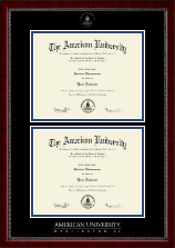 American University Diploma Frame - Double Diploma Frame in Sutton